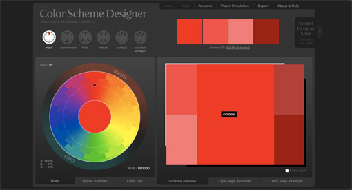 color scheme designer has a beautiful interface that helps you create beautiful color schemes in seconds colorblind simulation is built in so you can - Color Scheme Designercom
