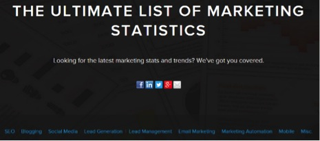 The Ultimate List Of Marketing Statistics
