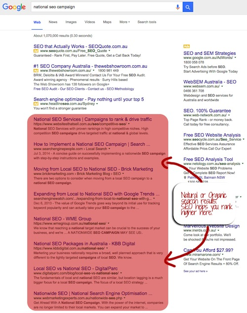 Search Results Organic